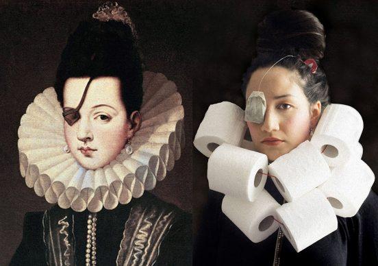 Alonso Sánchez Coello, Ana de Mendoza de la Cerda, Princess of Éboli, 16th century; Re-creation Laura Belconde