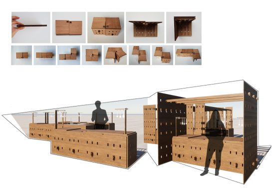 Foldable Kitchen by Ayca M. Aydin. Courtesy collective Soup International