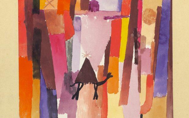 """Paul Klee, """"mit dem braunen Dreieck"""", 1915, 39 Aquarell auf Papier auf Karton 20 x 23 cm Kunstmuseum Bern"""