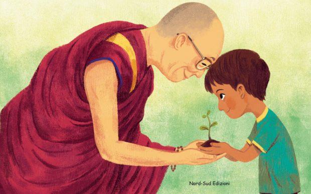 Dalai Lama, Le radici dell'amore, Nord Sud Edizioni, dettaglio della copertina