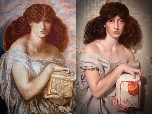 Dante Gabriel Rossetti, Pandora, 1879; Re-creation Isabella Beatrix Thompson @Bellatrix94