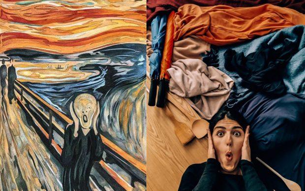 Edvard Munch, The Scream, 1893; Re-creation @wanderwithnada