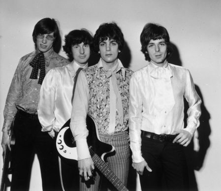 4th March 1967:  Psychedelic sixties band Pink Floyd; from left to right, Roger Waters, Nick Mason, Syd Barrett and Rick Wright.  (Photo by Doug McKenzie/Getty Images)