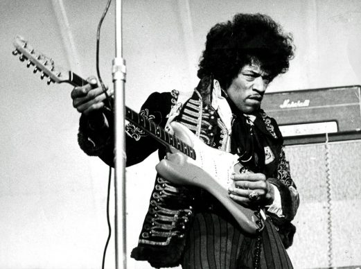 American singer and guitarist Jimi Hendrix performs on stage on May 24, 1967 at Grona Lund in Stockholm, Sweden.  / AFP PHOTO / TT NEWS AGENCY AND Svenska Dagbladet / -        (Photo credit /AFP via Getty Images)