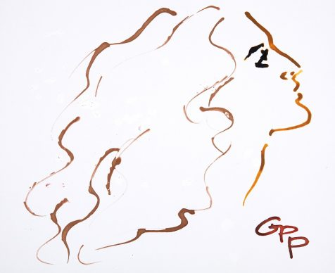 Gladys Perint Palmer, Angela Missoni, 2017. Ink, Glitter Dropper & Gouache on Paper, signed, Missoni Website, 35.5 x 43 cm. Courtesy Gladys Perint Palmer / Gray M.C.A