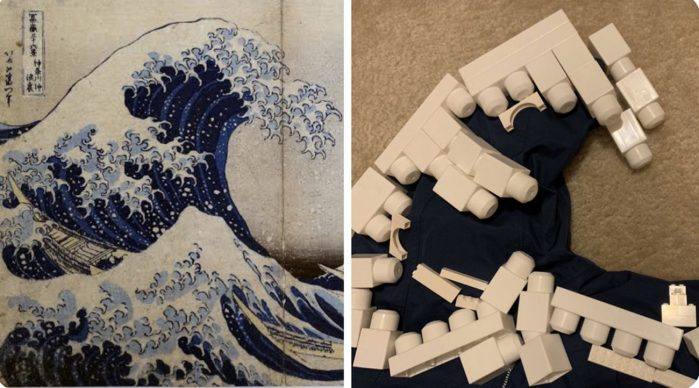 Katsushika Hokusai, Under the Wave off Kanagawa (The Great Wave), 1830–32; Re-creation Andy Mizell