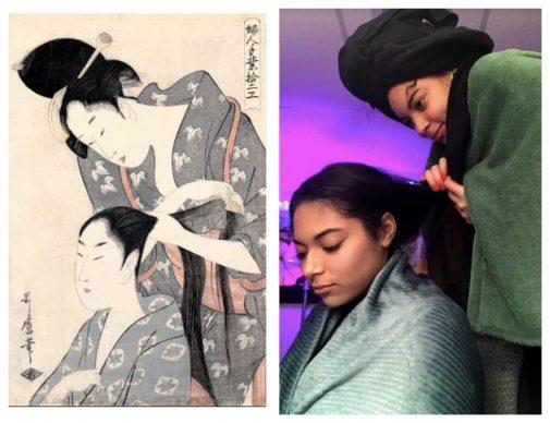 Kitagawa Utamaro, Hairdresser (Kamiyui), ca. 1797–98; Re-creation Makya Jackson