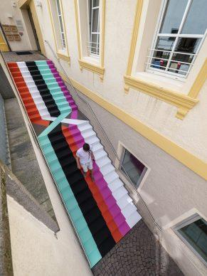 Lang/Baumann, Beautiful Steps #17, 2020. Paint. 2.3 x 8.6 m. Photo L/B