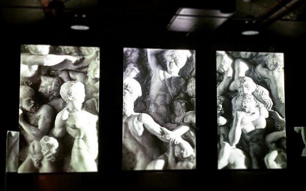 Vista dell'installazione Michelangelo il dono della creazione. Courtesy MuSA