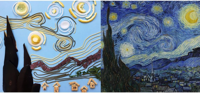 Vincent van Gogh, The Starry Night, 1889; Re-creation @clairesalvo