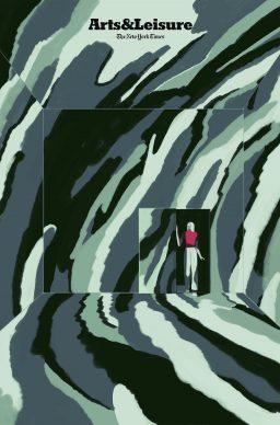 Una illustrazione di Emiliano Ponzi per New York Times Arts&Leisure. Courtesy l'artista