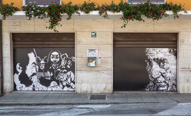 """Mondolfo, Gaetano Bigi """"El Gae"""", Omaggio a Alberto Sordi. Photo Franco Simoncini"""