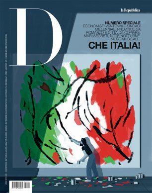 Una illustrazione di Emiliano Ponzi per D - La Repubblica. Courtesy l'artista