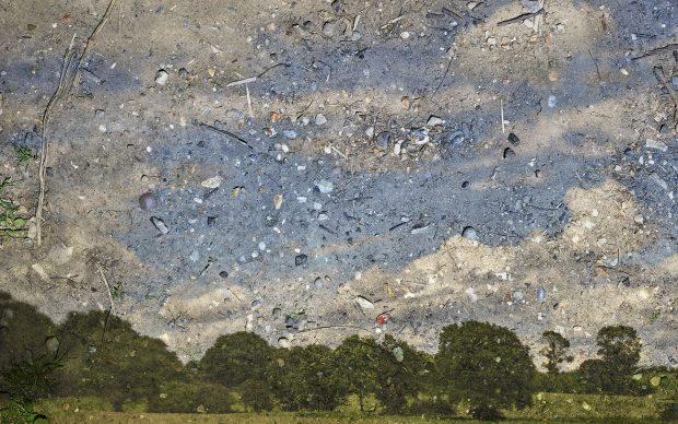 Abelardo Morell (American, b. Cuba, b. 1948). Rapidly Moving Clouds over Field, Flatford, England, #1, 2017. From After Constable. Inkjet print. Courtesy of Edwynn Houk Gallery. © Abelardo Morell