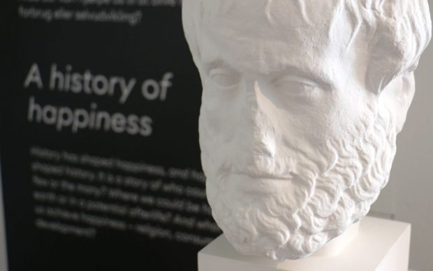 Aristole - The first happiness researcher, courtesy the Happiness Museum