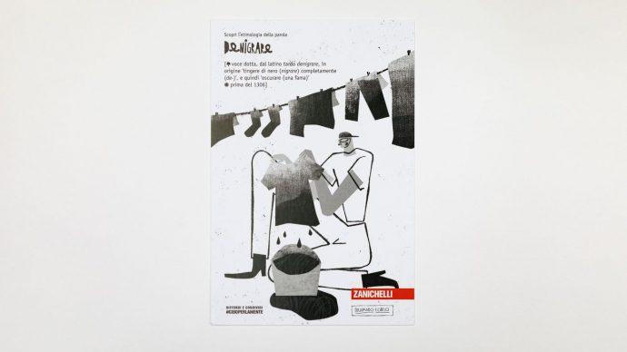 DENIGRARE, cartolina di Fernando Cobelo, courtesy l'artista