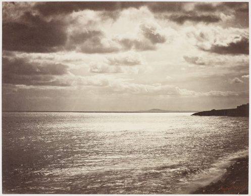 Gustave Le Gray (French, 1820–1884). Mediterranean with Mount Agde, 1857. Albumen silver print. George Eastman Museum, gift of Eastman Kodak Company, ex-collection Gabriel Cromer. Courtesy of the George Eastman Museum