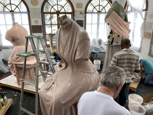 Il making-of del Women's Rights Pioneers Monument, photo credit Micheal Bergmann