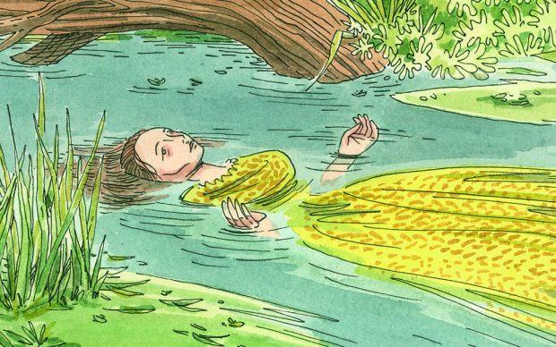 una illustrazione tratta dall'albo di Michele Petrucci emCostanza e Martinoem. Courtesy l'artista