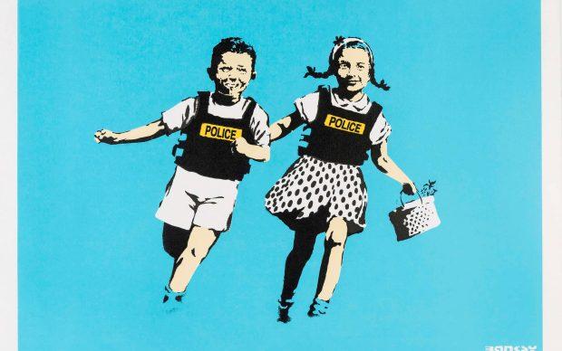 Banksy, Jack & Jill, 2005, serigrafia su carta, screenprint on paper, Collezione privata, Private collection