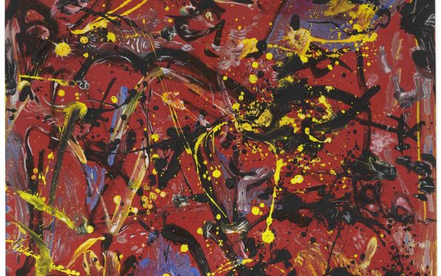 Jackson Pollock's (1912-1956), Red Composition (Painting 1946), Oil on Masonite 19 ¼ x 23 ¼ in. (48.9 x 59.1 cm.)