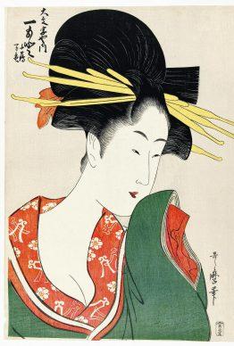 Kitagawa Utamaro, La geisha Hitomoto, 1795-1800 ca.