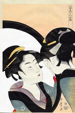"Kutagawa Utamaro, ""Okita"", Sette bellezze allo specchio, 1789 ca."