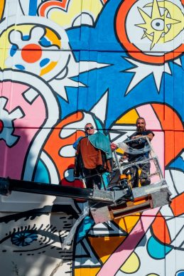 """Il murale di Zentequerente per """"WALLABE Street Art Festival"""". Foto di Andrea Verzola"""