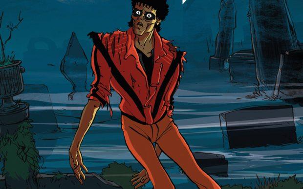 MICHAEL JACKSON In Comics (NBM, 2021). Dettaglio copertina