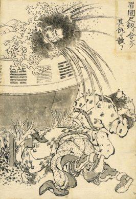 Mei Jianchi avenges himself on his enemies with the sword, Katsushika Hokusai, 1829. © The Trustees of the British Museum