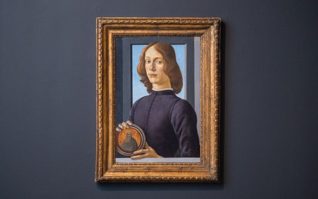 Sandro Botticelli, Young Man Holding a Roundel. Courtesy Sotheby's