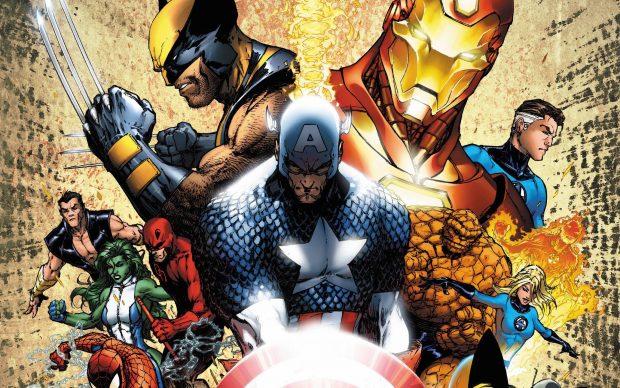 Una illustrazione di Civil War, la saga di Mark Millar e Steve McNiven che ha ispirato il film. Courtesy Marvel Comics