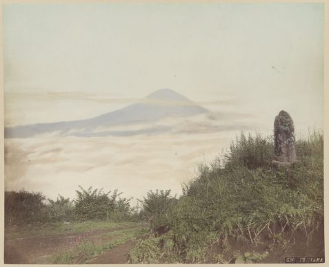 Unidentified maker. Mount Fuji, ca. 1870. Albumen silver print with applied color. George Eastman Museum, gift of University of Rochester. Courtesy of the George Eastman Museum