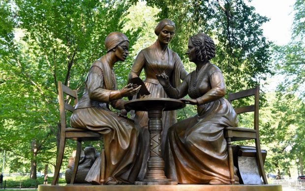 Women's Rights Monument in Central Park, credit NYC Parks / Daniel Avila
