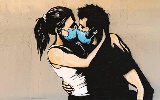 Xavier Tapies, La street art ai tempi del coronavirus, L'Ippocampo 2020, dettaglio della copertina