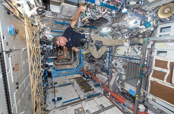 © Paolo Nespoli. Set Up for Making Photographs US Laboratory – Destiny International Space Station – ISS. Low Earth Orbit, Space
