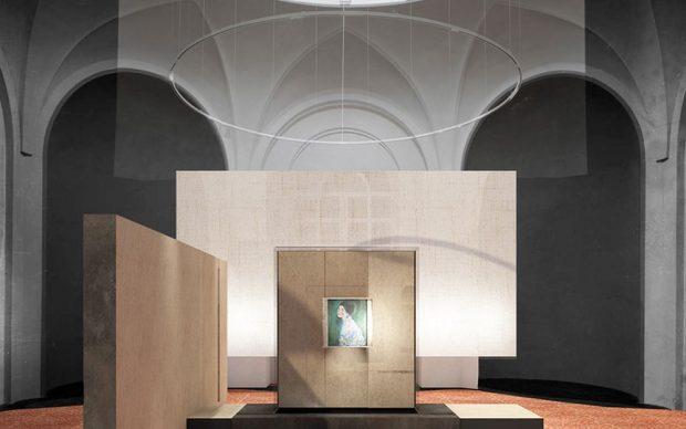 ® Politecnico di Milano ‒ Allestimento del Ritratto di Signora di Gutav Klimt alla Galleria d'Arte Moderna Ricci Oddi di Piacenza, courtesy Galleria d'Arte Moderna Ricci Oddi