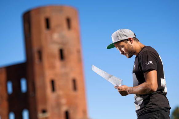 Beyond Walls-Saype Torino by Valentin Flauraud for Saype @saype_artiste