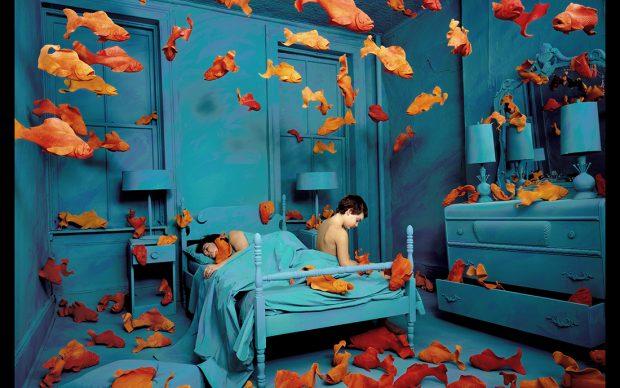 ANDY SKOGLUND, Revenge of the Goldfish 1981 archival color photograph cm 88.9 x 69.2 ca. Courtesy: Paci contemporary gallery (Brescia – Porto Cervo, IT)