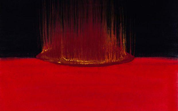Anish Kapoor, Blood and Earth, 2020. Fotoincisione su carta da matrice polimerica. Firmata e numerata dall'artista. Immagine 23 x 29 cm; stampa 33 x 40 cm © Anish Kapoor. Tutti i diritti riservati, DACS/ SIAE, 2020