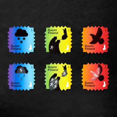 Climate Change Stamps. Design by Berry Creative. Photos by Paavo Lehtonen