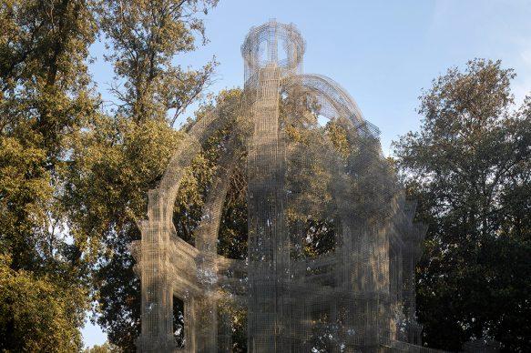 Edoardo Tresoldi, Etherea. Mostra Back to Nature. Arte Contemporanea a Villa Borghese. Photo © Roberto Conte