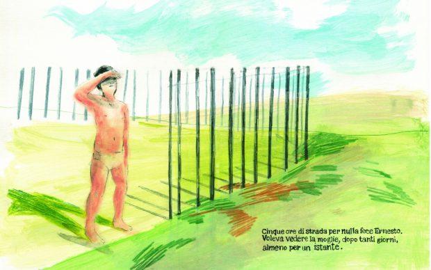 Gianni Rodari, I sepolti vivi. Una tavola di Silvia Rocchi. Courtesy l'editore