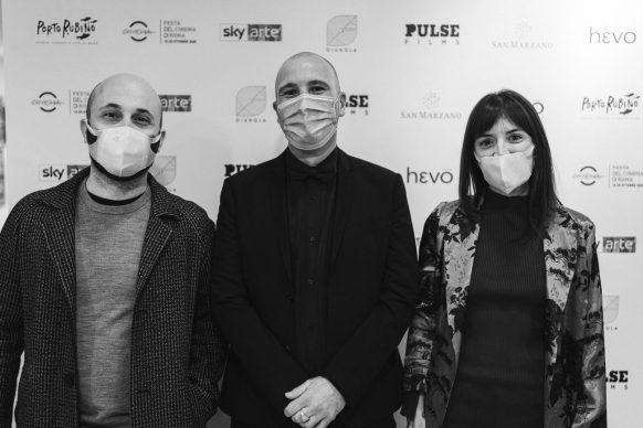"""Giorgio Testi, Fabrizio Fichera alla proiezione di """"Porto Rubino. Storie, canzoni e lupi di mare"""" alla Casa del Cinema di Roma, 2020"""