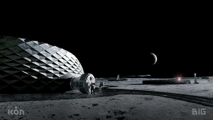 ICON, Project Olympus concept. Render image credit BIG-Bjarke Ingels Group