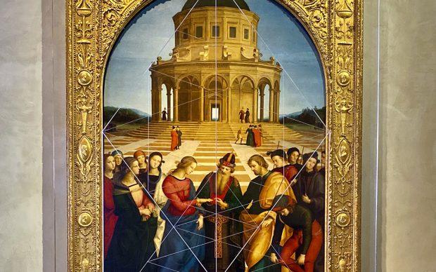Bruno Munari Pinacoteca di Brera Sposalizio della Vergine Raffaello