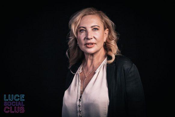Iaia Forte, ospite del 28esimo episodio di Luce Social Club