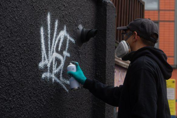 Il murale di Akse a Manchester. Foto courtesy The Mancorialist e Philippe Carly