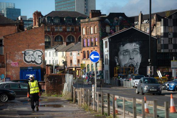 Il murale di Akse a Manchester. Foto courtesy TheMancorialist e Philippe Carly