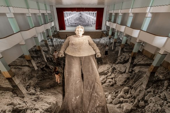Omelia contadina, Iris Pulvano, 2020. Theater installation at Galleria Continua 2020. Courtesy the artist and GALLERIA CONTINUA. Photo by Ela Bialkowska, OKNO Studio